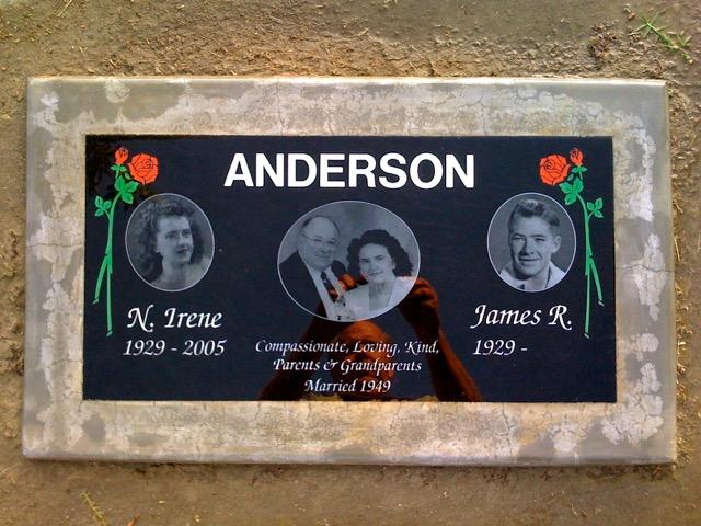 Anderson Grave Marker