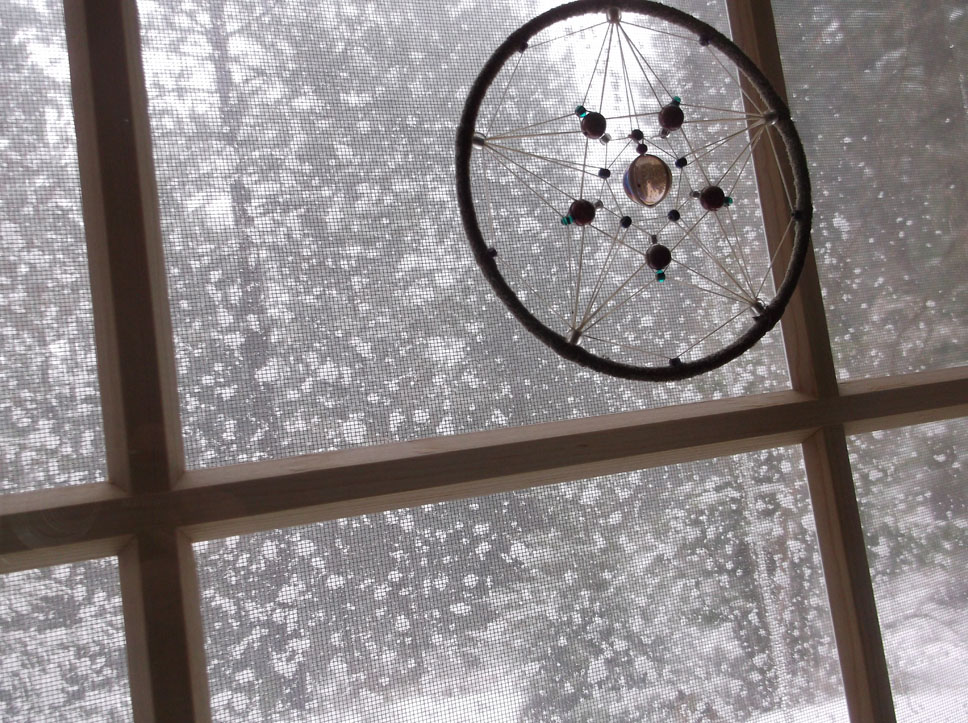 Snow on the window